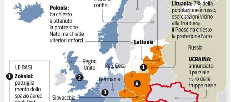 La Nato si volge a Est Più truppe e mezzi per contrastare Mosca