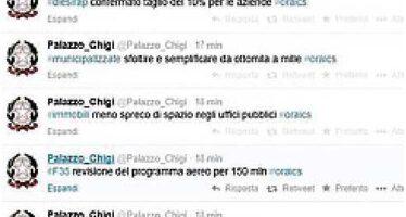 Le misure di Renzi in dieci tweet: è l'ora X