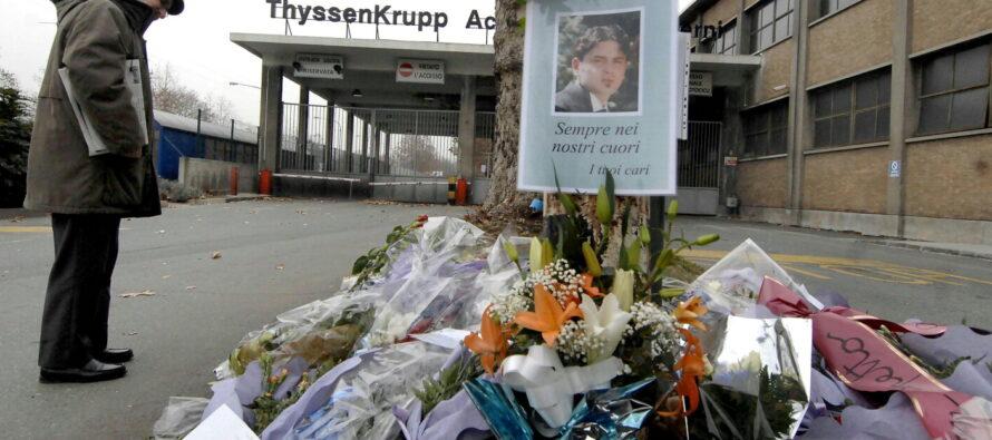 """""""Niente prescrizione per la strage alla Thyssen ma no a pene più alte"""""""