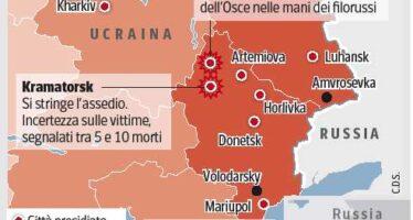 Liberati gli ostaggi occidentali dell' OSCE.Kiev annuncia: l'offensiva continua