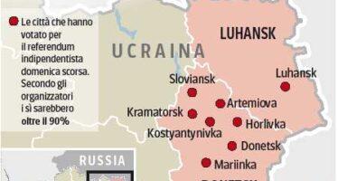 I separatisti ucraini verso l'indipendenza «Uniamoci a Mosca »