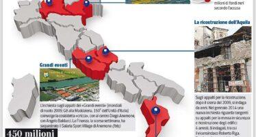 Una mazzetta per ogni appalto l'altra Mappa d'Italia