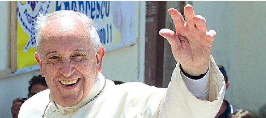 Papa Francesco a Genova con gli operai Ilva