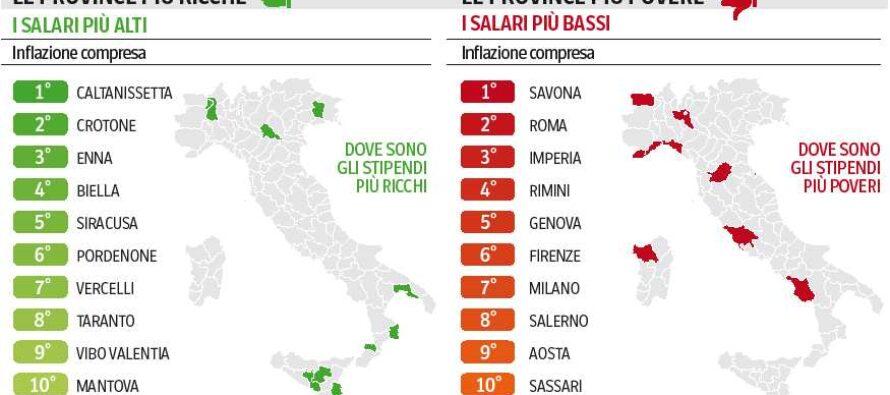 Stipendi, l'Italia rovesciata il Sud più ricco del Nord