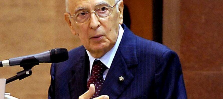 Le forzature pericolose di Giorgio Napolitano