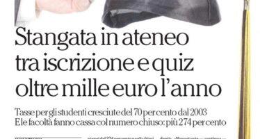 La grande stangata delle università 1.000 euro tra iscrizione e test