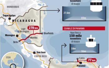 Un canale di 278 km La Cina lancia la sfida per l'America Latina