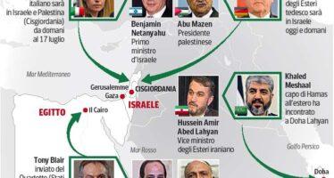Guerra a Gaza, si muove l'Europa Ma i razzi e le bombe continuano