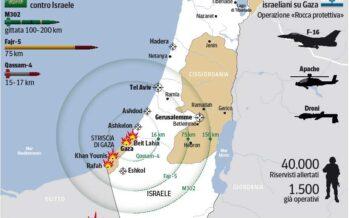 Israele lancia l'offensiva sulla Striscia di Gaza Razzi su Gerusalemme e Tel Aviv