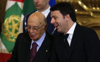 Renzi e Napolitano. L'esame dei presidenti