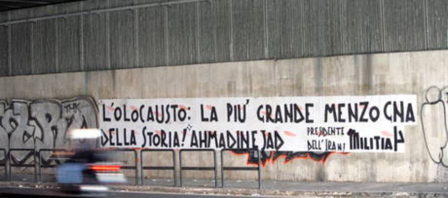 L'odio antisemita sui muri di Roma