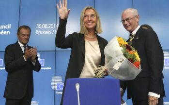"""Ue, il giorno della Mogherini guiderà la politica estera """"Sfide immani ma sono pronta"""""""