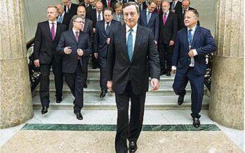 La spinta di Draghi, ma le Borse cadono