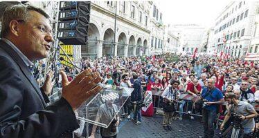 I dissidenti pd tra Landini e la piazza La sinistra prova a resistere al Jobs act