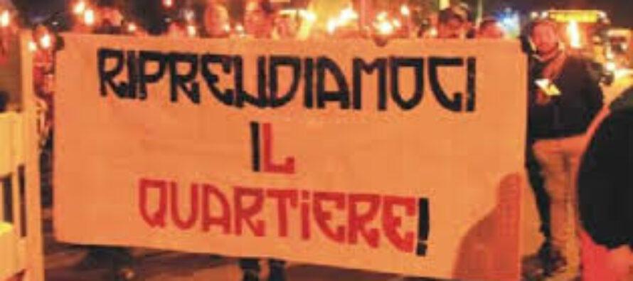 Fiaccolata anti-Rom a Mirafiori