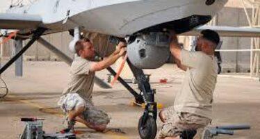 Il drone militare Predator per filmare cortei e tifosi