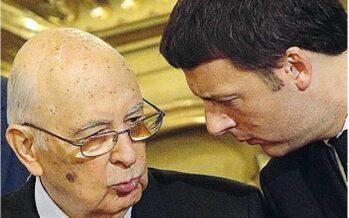 L'invito di Napolitano a Renzi: cancellare il sospetto di voto anticipato
