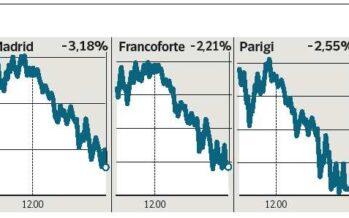 Effetto Cina e Grecia, Borse giù