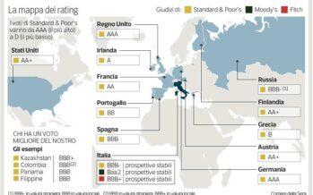 «Il debito cresce troppo, Italia declassata»