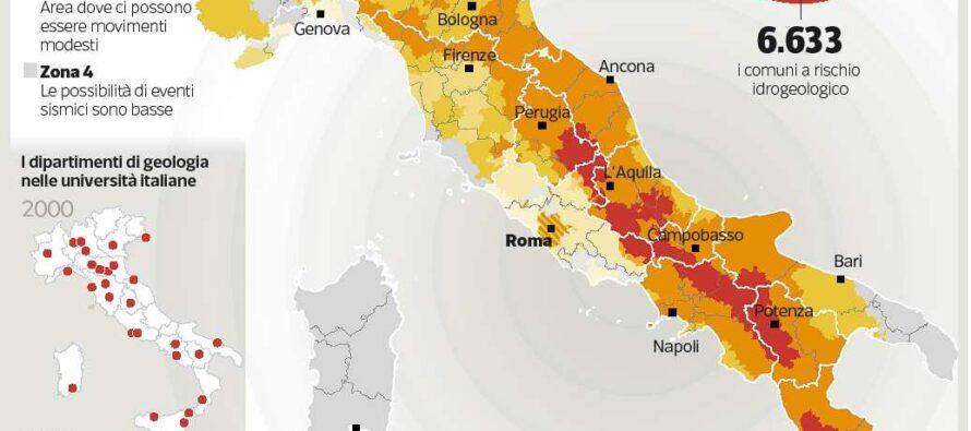 Nel Paese più a rischio di terremoti dimezzate le università di geologia
