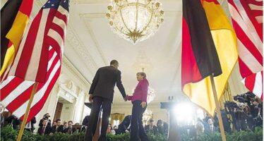 Show di unità fra Barack e Angela Il presidente americano è scettico sull'idea di una soluzione militare