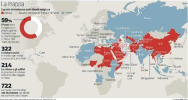 Ogni mese 322 vittime Cristiani i più perseguitati in un mondo intollerante