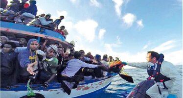Dieci morti trovati sui barconi