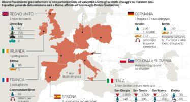 Libia, sì dall'Europa alla missione navale