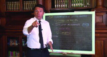 Scuola, lo spot del preside del consiglio Renzi