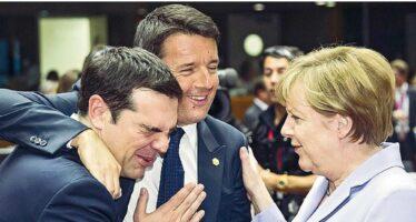 """Renzi con Angela per archiviare Tsipras """"Errore referendum"""""""