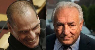 Varoufakis e Strauss-Kahn: la strana coppia che sfida l'Europa