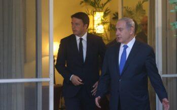 Renzi-Netanyahu: colloqui sull'Iran, palestinesi ai margini