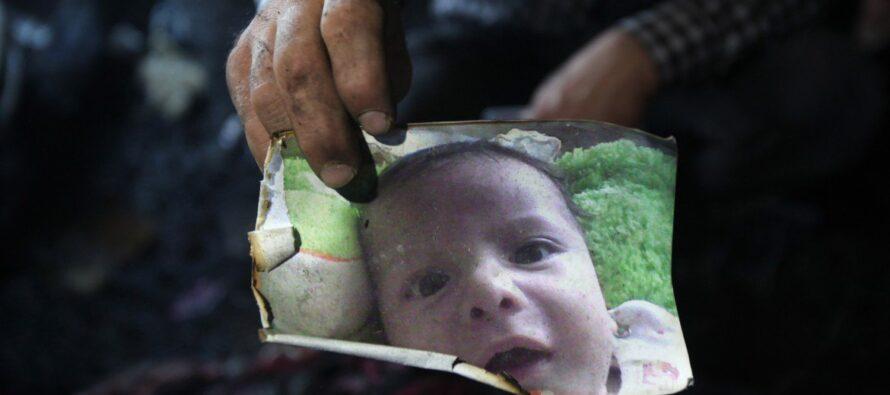Ali arso vivo mostra volto violento coloni israeliani