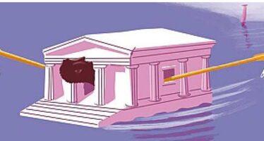 Isegni di tracollo dell'economia greca