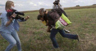 """""""Siamo in salvo ma non perdono la giornalista dello sgambetto """""""