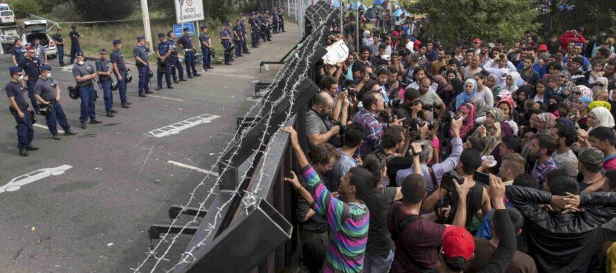 Profughi, il muro della Macedonia