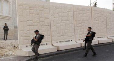 "Muro a Gerusalemme per fermare gli attacchi ""Ma sarà temporaneo"""