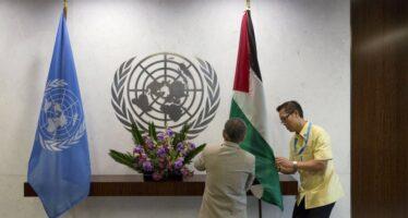 """All'Onu bandiera della Palestina """"Ora basta accordi con Israele"""""""