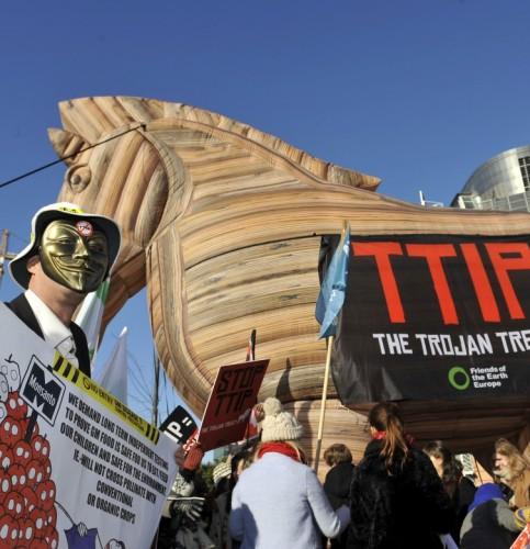 Manifestazione «No Ttip» a bruxelles