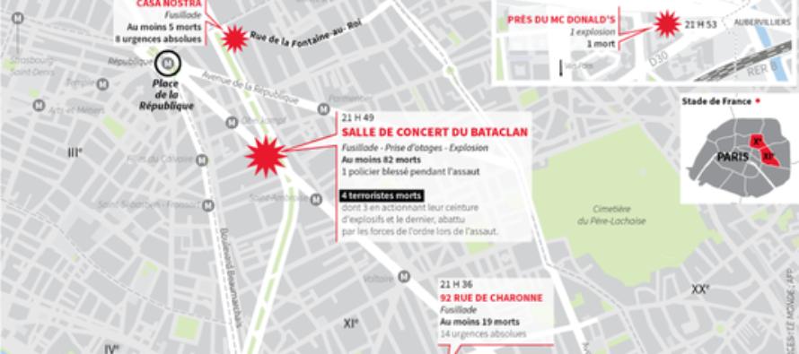 Attaques à Paris : ce que l'on sait des attentats qui ont fait au moins 128 morts