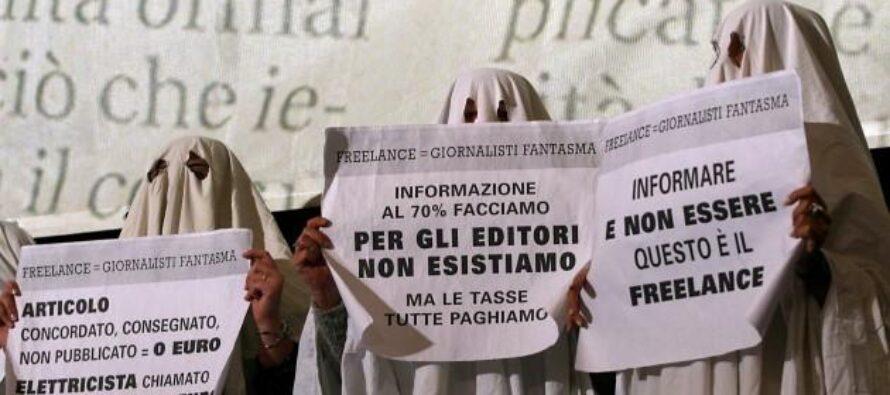 In Italia 4giornalisti freelance su dieci lavorano gratis