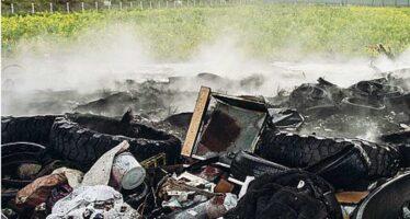 L'Italia dei fuochi: in tre anni 260 roghi di rifiuti speciali