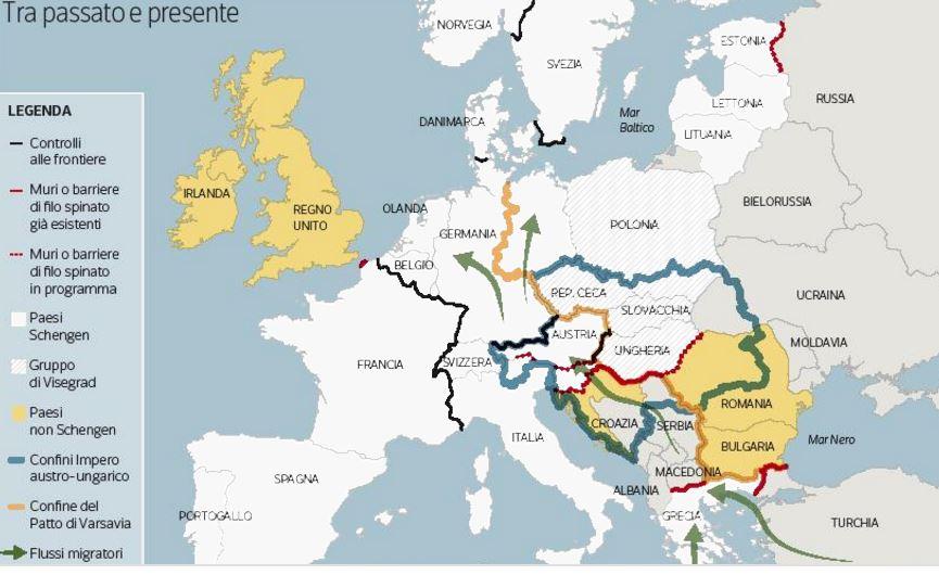 Quei muri dove da sempre si scontrano lingue e popoli - Mappa di ungheria ed europa ...