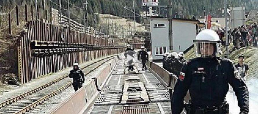 Battaglia sul confine: centri sociali italiani contro la polizia austriaca