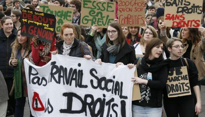 manifestazione in Francia