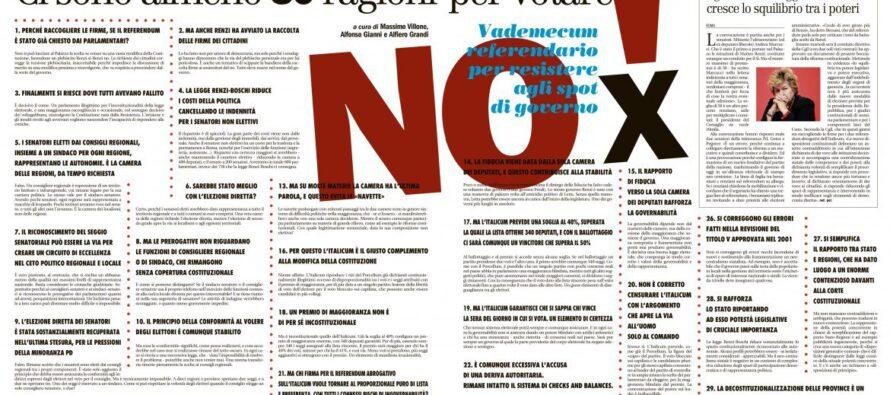 Gli slogan di Renzi, le ragioni del professore Zagrebelsky