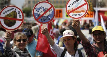Trentamila alla prima marcia Stop Ttip a Roma