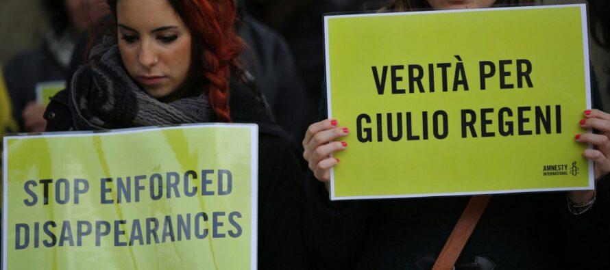 Verità per Giulio Regeni, l'Egitto Paese non sicuro