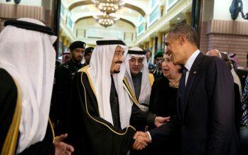 Obama e i due bronzi di Riyadh