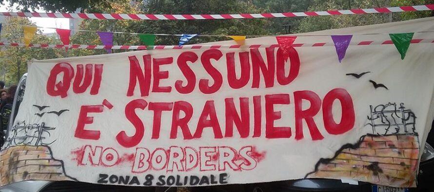 L'altra Milano fa festa ai migranti davanti alla caserma Montello